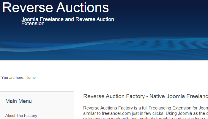 Reverse Auction Factory