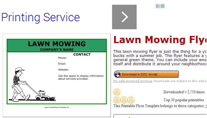 Lawn Mowing Flyer Templates | AF Templates