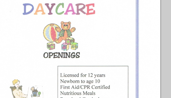 samples of daycare flyers