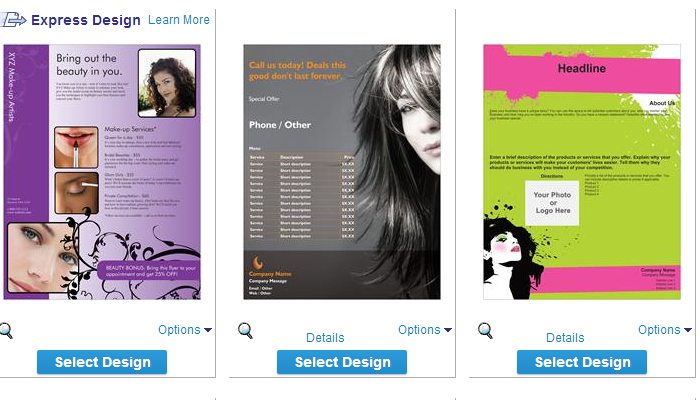 5 hair stylist flyer templates af templates for Vistaprint flyer templates