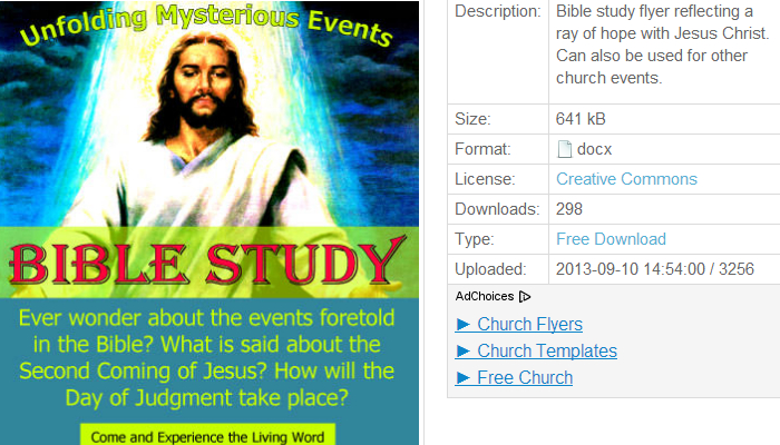 Free Church Event Flyer Templates | AF Templates