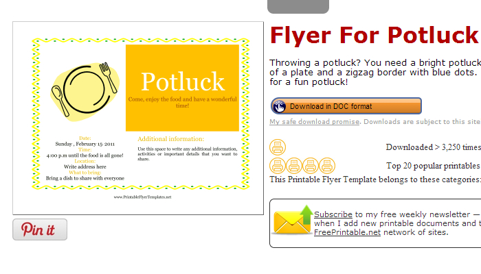 potluck flyer template 28 images potluck flyer template 23 – Free Printable Flyer Templates