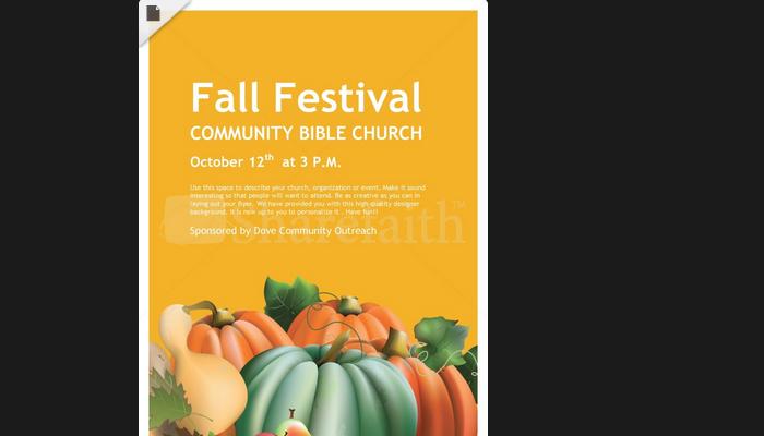 Fall Festival Flyer Background Militaryalicious