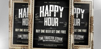 6 Happy Hour Flyer Templates