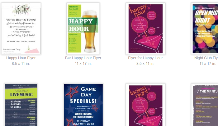 https://www.behance.net/gallery/18796349/Framed-Happy-Hour-Flyer-Template