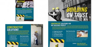 6 Construction Flyer Templates