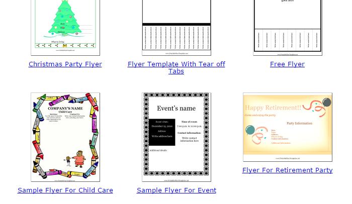 printable flyer maker