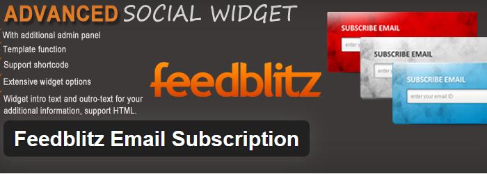 Feedblitz Email Subscription
