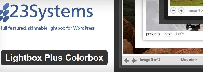Lightbox Plus Colorbox