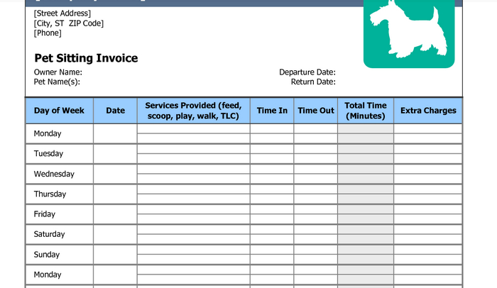Free Pet Sitting Invoice NinoCrudele Invoice Templates - What is invoice number on receipt online pet store