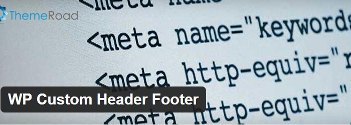 WP Custom Header Footer