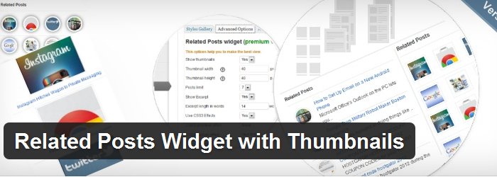Widget With Thumbnails