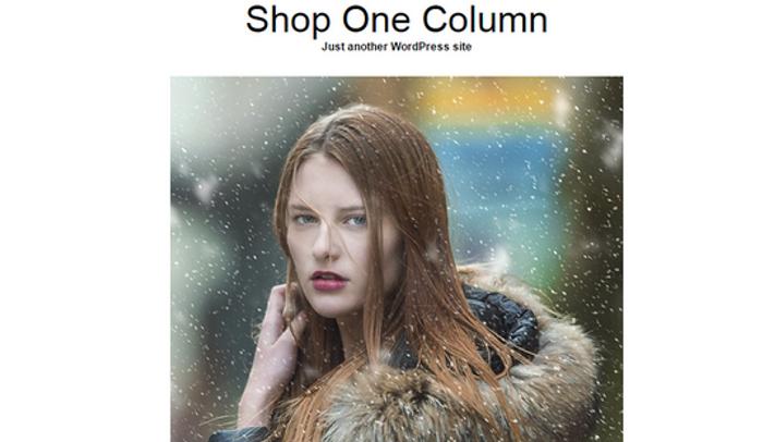 Shop One Column