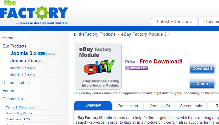 The eBay Factory Module