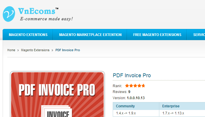 magento invoice template  5 Best Magento Invoice Templates | AF Templates