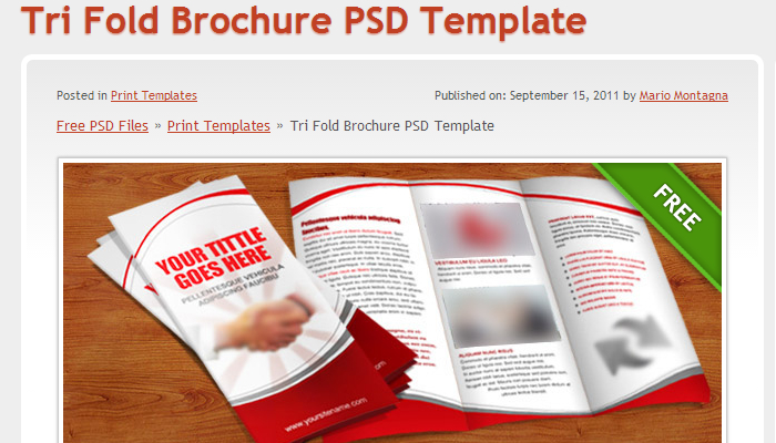 Three fold brochure template free for 3 fold brochure template psd free download