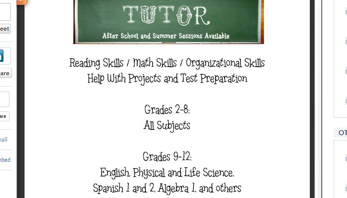 DocStoc Tutor Flyer