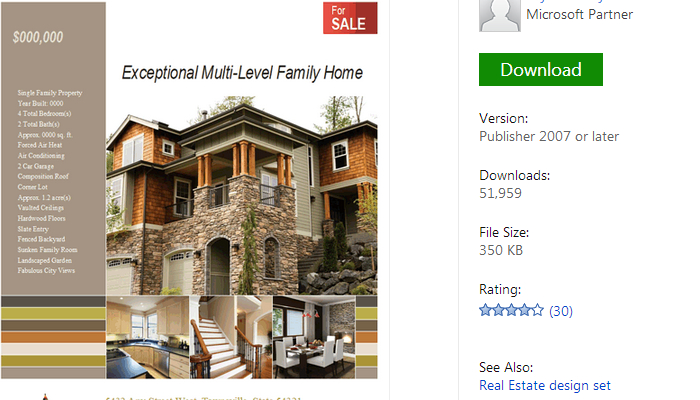 Free Realtor Flyer Templates AF Templates - Microsoft office real estate flyer templates