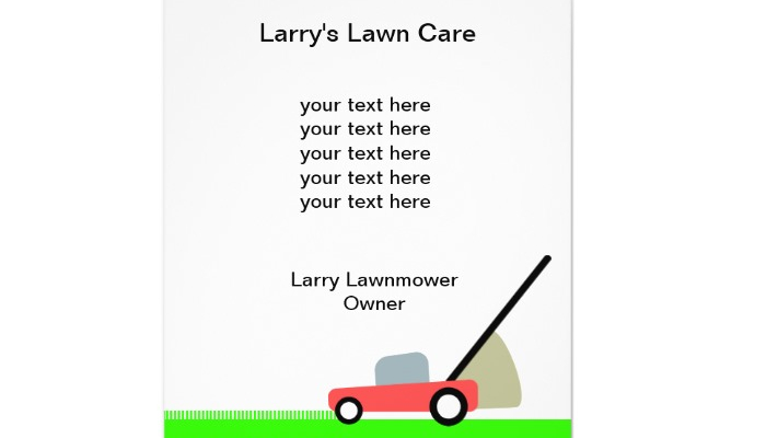 Lawn Care Flyers Templates AF Templates - Landscaping flyer templates
