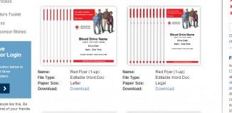3 Blood Drive Flyer Templates