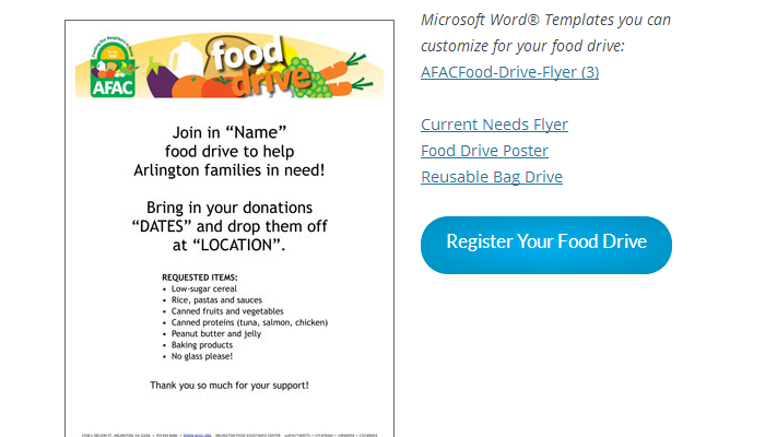 Can Food Drive Flyer Template. 18+ Fast Food Flyer Templates Free ...