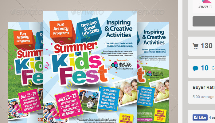 Summer Camp Flyer Template  LondaBritishcollegeCo