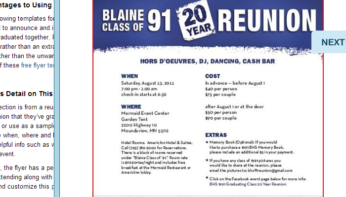 5 high school reunion flyer templates af templates