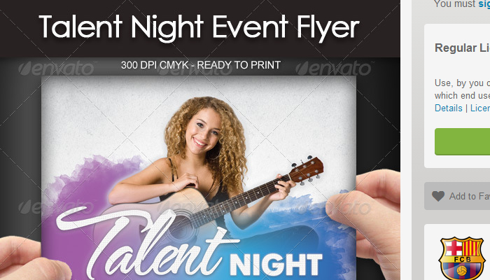 5 Talent Show Flyer Templates | AF Templates