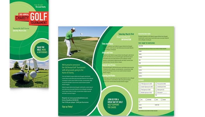 5 free golf tournament flyer templates af templates