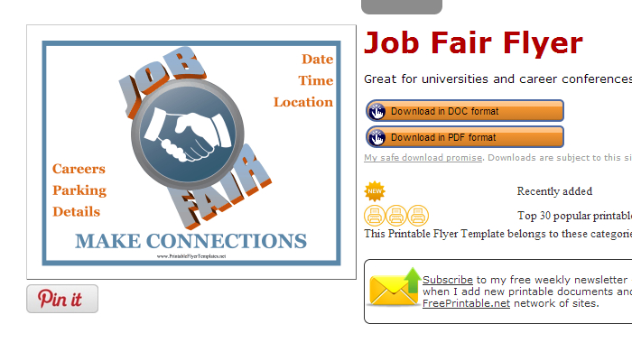 5 career fair flyer templates af templates printableflyertemplates maxwellsz