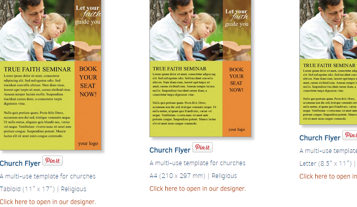 Free Church Flyer Templates AF Templates - Free church brochure templates