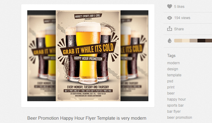 Bar Flyer Templates Choice Image Template Design Free Download