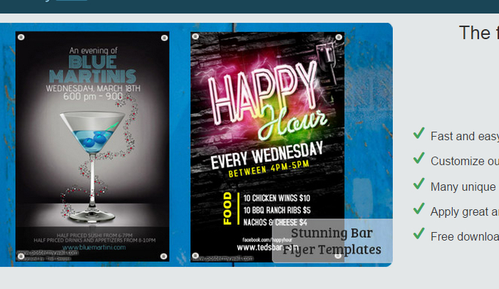Free Bar Flyer Templates  Af Templates