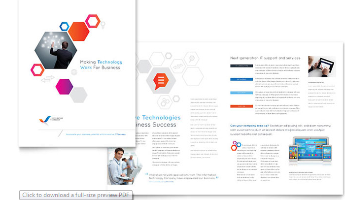 stock layouts - Half Page Brochure Template