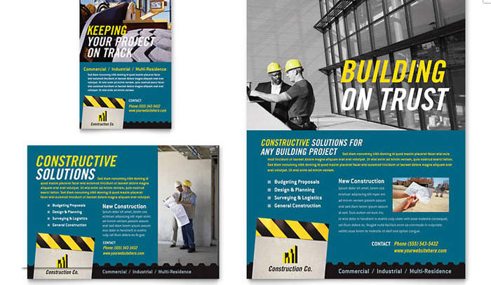 6 construction flyer templates af templates stock layouts pronofoot35fo Image collections