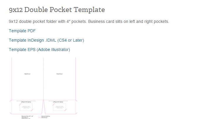 5 pocket folder template indesign | af templates, Presentation templates