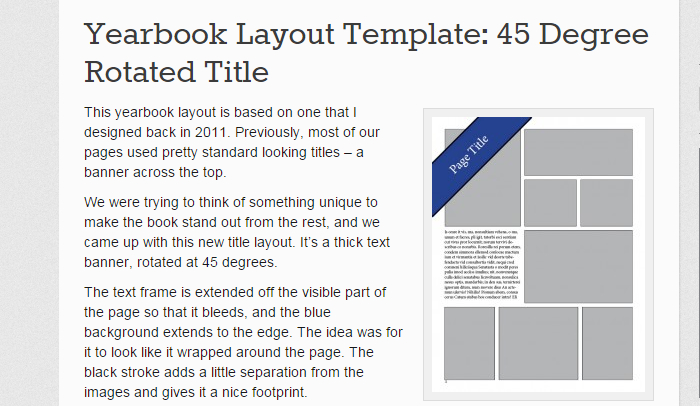 blurb indesign template - 6 indesign yearbook template af templates