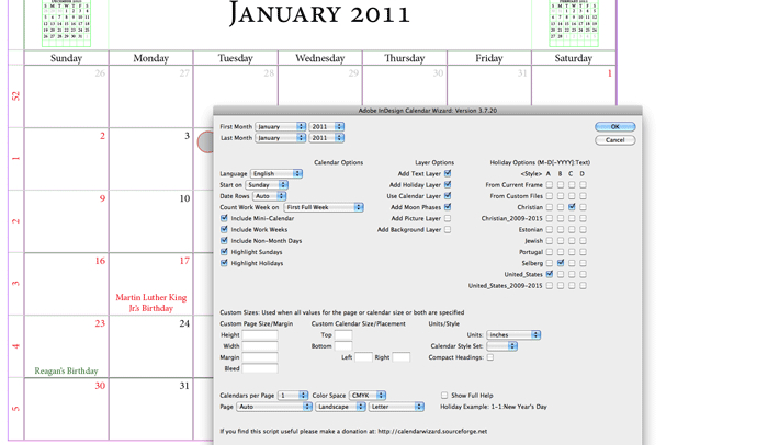 2016 Calendar Template Indesign from afcomponents.com