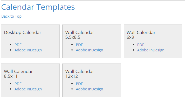 Adobe Indesign Calendar Template  Af Templates