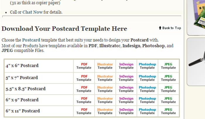 postcard template indesign
