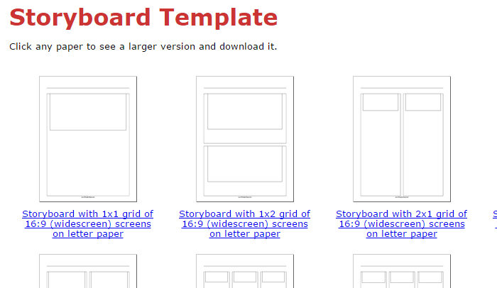 Indesign Storyboard Template  Af Templates