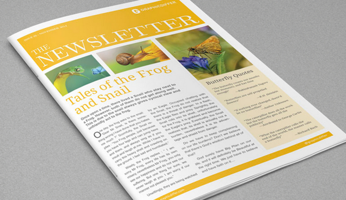 4 Adobe Indesign Newsletter Templates