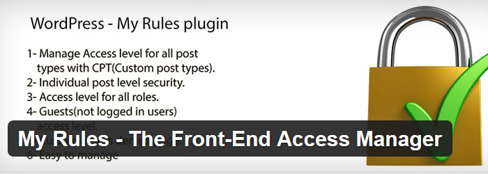 My Rules - The Front-End Access Manager