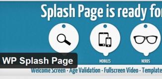 The Top Splash Page Wordpress Plugins