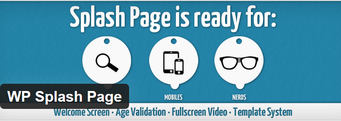 The top splash page wordpress plugins af templates for Wordpress splash page template