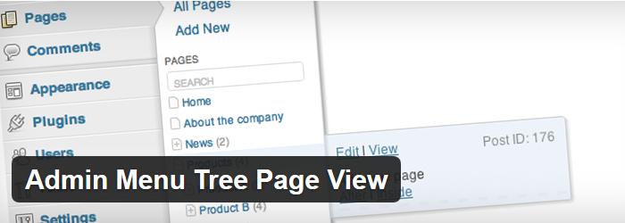 Admin Menu Tree Page