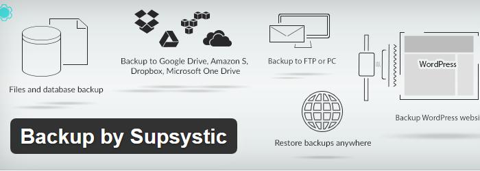 Backup by Supsystic
