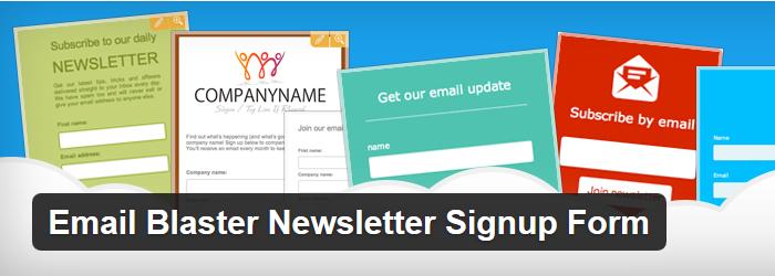 Email Blaster Newsletter Signup Form