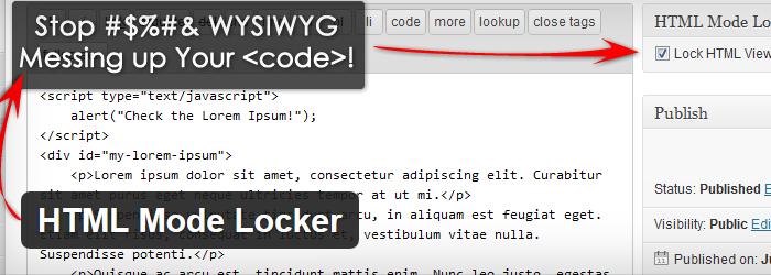 HTML Mode Locker