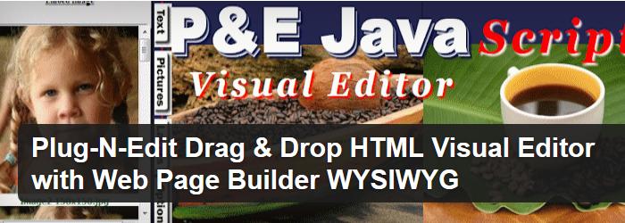 Plug-n-Edit Drag & Drop HTML Visual Editor
